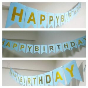 Paper happy birthday banner